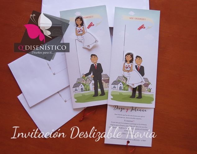 invitacion deslizable novia